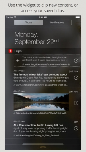 iPhone、iPadアプリ「Clips - Copy and paste anywhere with widget and keyboard」のスクリーンショット 2枚目