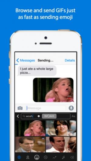 iPhone、iPadアプリ「GIF Keyboard」のスクリーンショット 2枚目