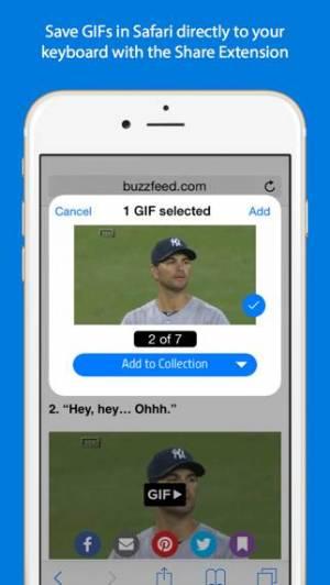 iPhone、iPadアプリ「GIF Keyboard」のスクリーンショット 4枚目