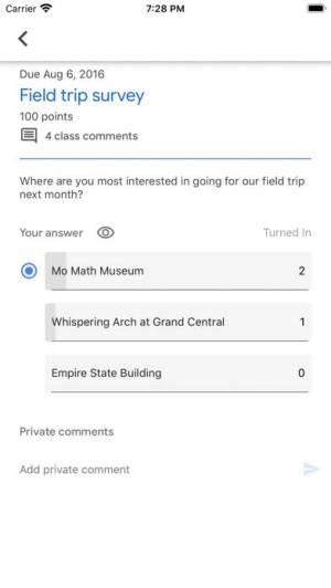 iPhone、iPadアプリ「Google Classroom」のスクリーンショット 3枚目