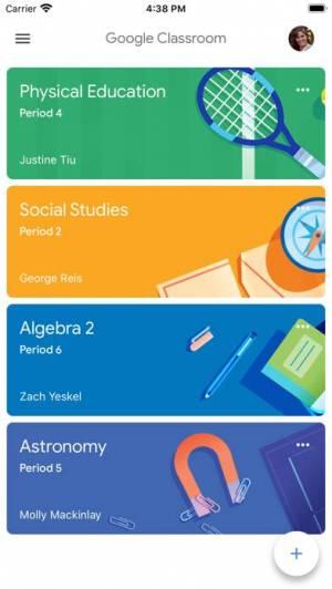 iPhone、iPadアプリ「Google Classroom」のスクリーンショット 1枚目