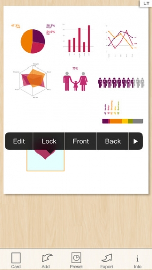 iPhone、iPadアプリ「Infographic Maker - Create Chart and Graph」のスクリーンショット 3枚目