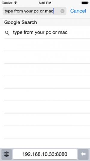 iPhone、iPadアプリ「Wifi Keyboard」のスクリーンショット 1枚目