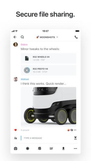 iPhone、iPadアプリ「Wire • Secure Messenger」のスクリーンショット 4枚目