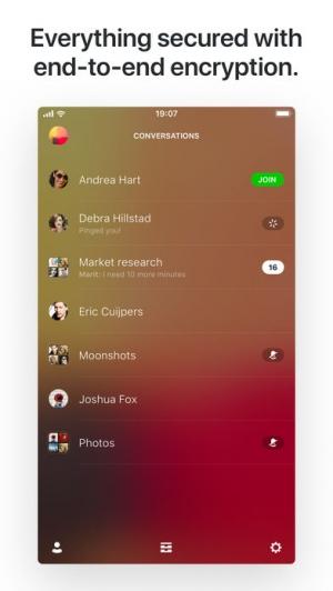 iPhone、iPadアプリ「Wire • Secure Messenger」のスクリーンショット 1枚目