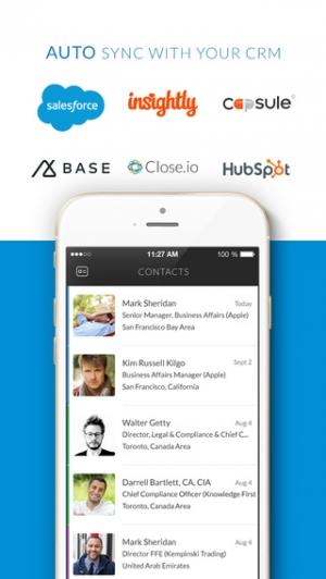 iPhone、iPadアプリ「Zap - The Digital Business Card」のスクリーンショット 2枚目