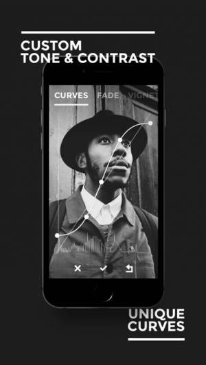 iPhone、iPadアプリ「BLACK - B&W Film Emulator」のスクリーンショット 3枚目