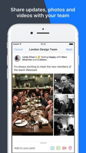 iPhone、iPadアプリ「Workplace by Facebook」のスクリーンショット 5枚目