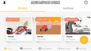 iPhone、iPadアプリ「Animation Desk®」のスクリーンショット 1枚目