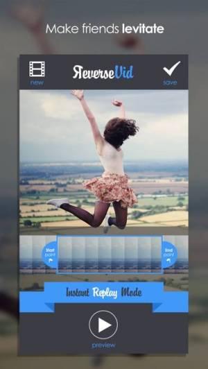 iPhone、iPadアプリ「逆Vid:逆方向に再生する」のスクリーンショット 3枚目