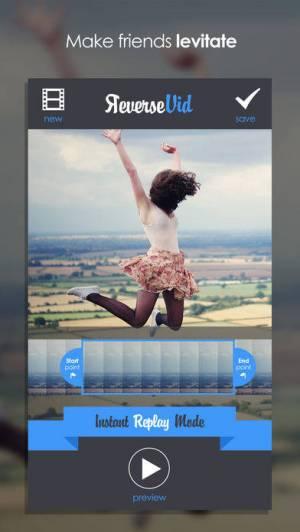 iPhone、iPadアプリ「Reverse Vid –逆にビデオを巻き戻すための編集&Vineやインスタグラムの為に即座に映画をリプレーする」のスクリーンショット 3枚目
