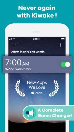 iPhone、iPadアプリ「Kiwake カイワキ目覚まし時計」のスクリーンショット 2枚目