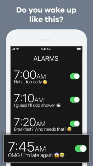 iPhone、iPadアプリ「Kiwake カイワキ目覚まし時計」のスクリーンショット 1枚目