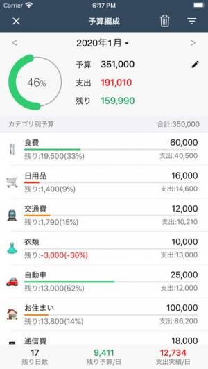 iPhone、iPadアプリ「毎日家計簿 - 簡単人気夫婦共有予算外貨複数帳簿」のスクリーンショット 3枚目