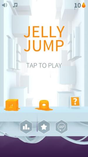 iPhone、iPadアプリ「Jelly Jump」のスクリーンショット 1枚目