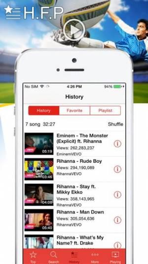 iPhone、iPadアプリ「MyTube - Stream and Play」のスクリーンショット 4枚目