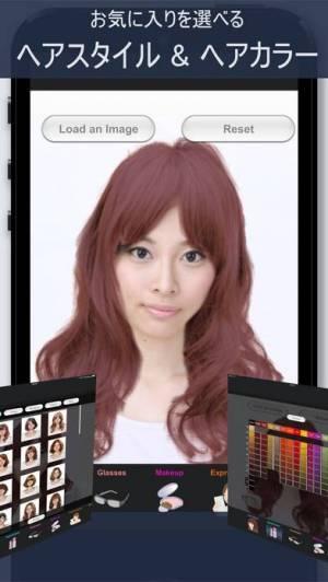 iPhone、iPadアプリ「ヘアスタイル シミュレーション - SimFront」のスクリーンショット 2枚目