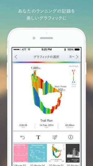 iPhone、iPadアプリ「RunGraph」のスクリーンショット 1枚目
