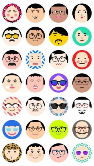 iPhone、iPadアプリ「Flat Face - Avatar Face Maker」のスクリーンショット 1枚目