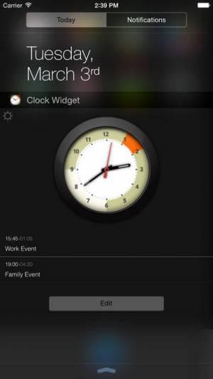 iPhone、iPadアプリ「Alarm Clock Widget」のスクリーンショット 1枚目