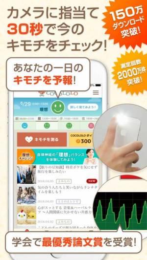 iPhone、iPadアプリ「COCOLOLO-カメラでストレスチェック&AIキモチ予報-」のスクリーンショット 1枚目