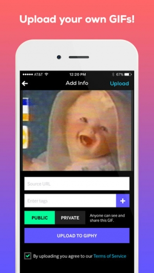 iPhone、iPadアプリ「GIPHY: The GIF Search Engine」のスクリーンショット 4枚目