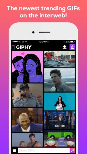 iPhone、iPadアプリ「GIPHY: The GIF Search Engine」のスクリーンショット 1枚目
