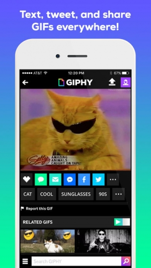 iPhone、iPadアプリ「GIPHY: The GIF Search Engine」のスクリーンショット 3枚目