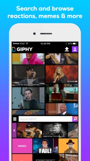 iPhone、iPadアプリ「GIPHY: The GIF Search Engine」のスクリーンショット 2枚目