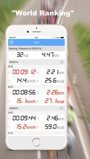 iPhone、iPadアプリ「スマート・エクササイズ-ランニングやサイクリング ダイエット記録ナビ」のスクリーンショット 4枚目