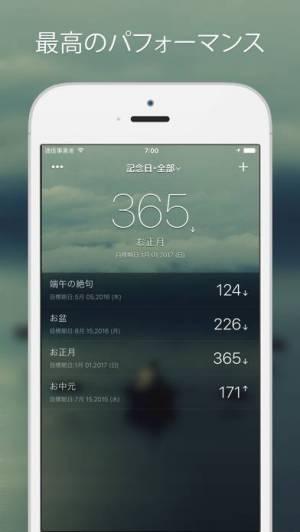 iPhone、iPadアプリ「記念日°」のスクリーンショット 1枚目