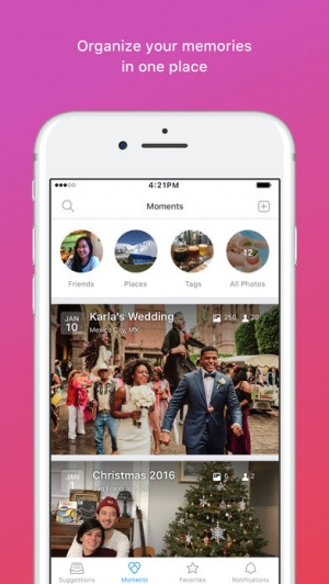 iPhone、iPadアプリ「Moments–private shared albums」のスクリーンショット 3枚目