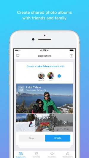 iPhone、iPadアプリ「Moments–private shared albums」のスクリーンショット 1枚目