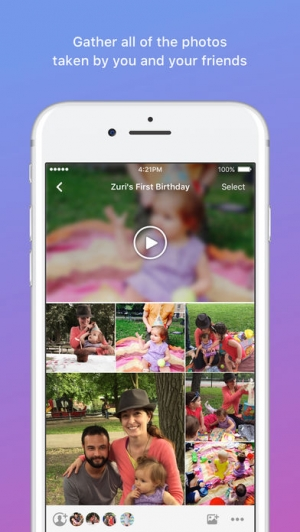 iPhone、iPadアプリ「Moments–private shared albums」のスクリーンショット 2枚目