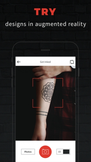 iPhone、iPadアプリ「INKHUNTER - try tattoo designs in augmented reality」のスクリーンショット 2枚目