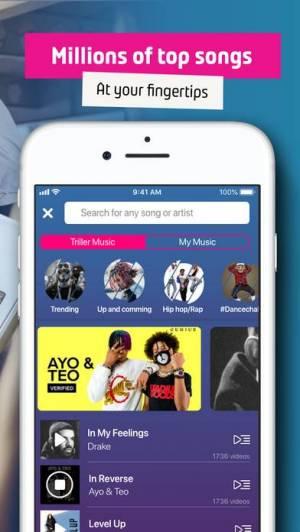 iPhone、iPadアプリ「Triller: Social Video Platform」のスクリーンショット 3枚目