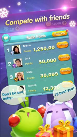 iPhone、iPadアプリ「Craz3 Match for WeChat」のスクリーンショット 5枚目