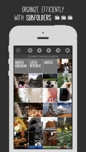 iPhone、iPadアプリ「FavoShots - Photo Album with Subfolders」のスクリーンショット 2枚目