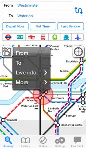 iPhone、iPadアプリ「NAVITIME Transit - London UK journey planner for tube, bus and flight」のスクリーンショット 2枚目