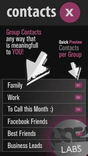 iPhone、iPadアプリ「ContactsX」のスクリーンショット 5枚目