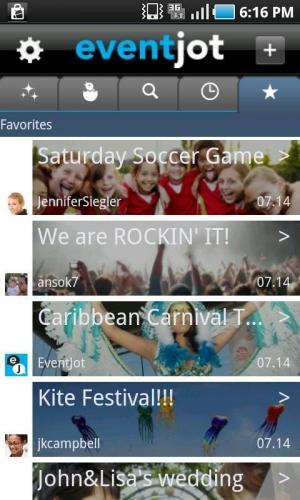 Androidアプリ「EventJot」のスクリーンショット 1枚目