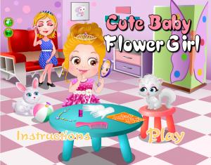 Androidアプリ「Cute Baby Flower Girl」のスクリーンショット 1枚目