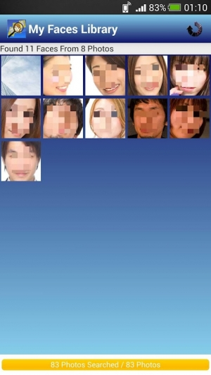 Androidアプリ「Face Search | 顔 検索・顔 認識」のスクリーンショット 1枚目