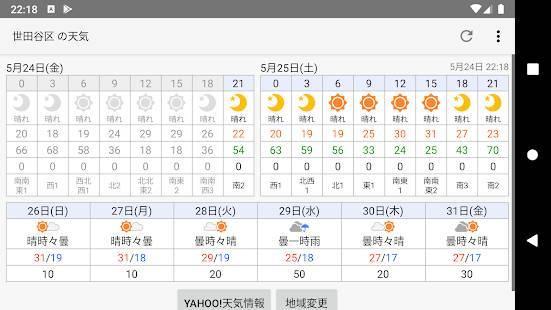 「ピンポイント天気」のスクリーンショット 2枚目