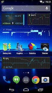 「3C Battery Monitor Widget Pro」のスクリーンショット 1枚目