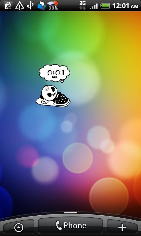 「俺パン☆トーク ライブ壁紙パンダ無料デジタル時計ウィジェット」のスクリーンショット 1枚目