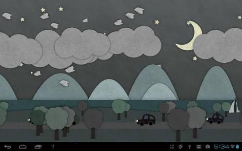 「Paperland Live Wallpaper」のスクリーンショット 2枚目
