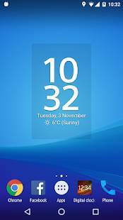 「Digital Clock Widget Xperia」のスクリーンショット 2枚目