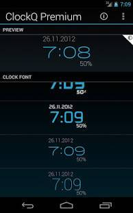 「ClockQ - Digital Clock Widget」のスクリーンショット 3枚目