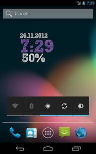 「ClockQ - Digital Clock Widget」のスクリーンショット 2枚目